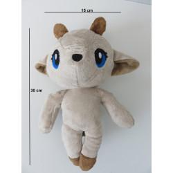 Dimensions de la peluche : 30 cm de haut et 15 cm de large