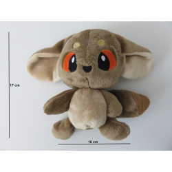 Dimensions de la peluche : 17 cm de haut, 10 cm de large